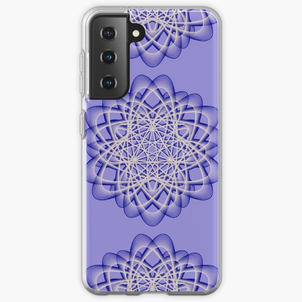 Abstract Blue Violet Atomic Swaps Samsung Galaxy Soft Case