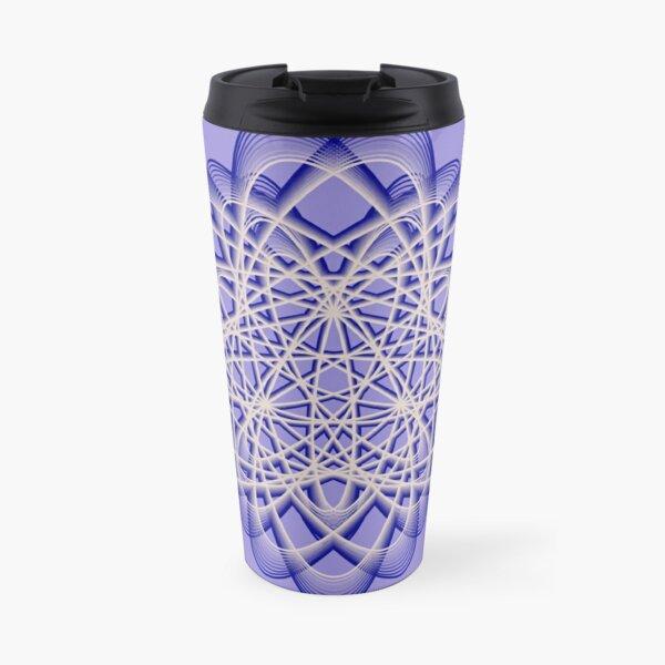 Abstract Blue Violet Atomic Swaps Travel Mug