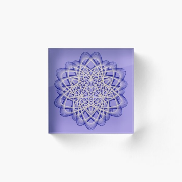 Abstract Blue Violet Atomic Swaps Acrylic Block
