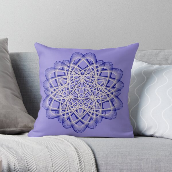 Abstract Blue Violet Atomic Swaps Throw Pillow