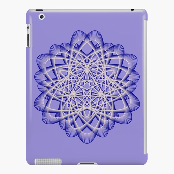 Abstract Blue Violet Atomic Swaps iPad Snap Case