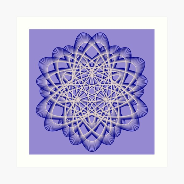 Abstract Blue Violet Atomic Swaps Art Print