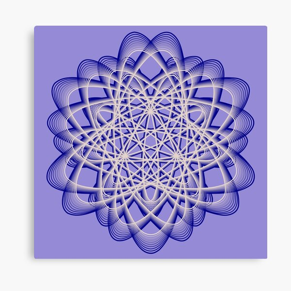 Abstract Blue Violet Atomic Swaps Canvas Print