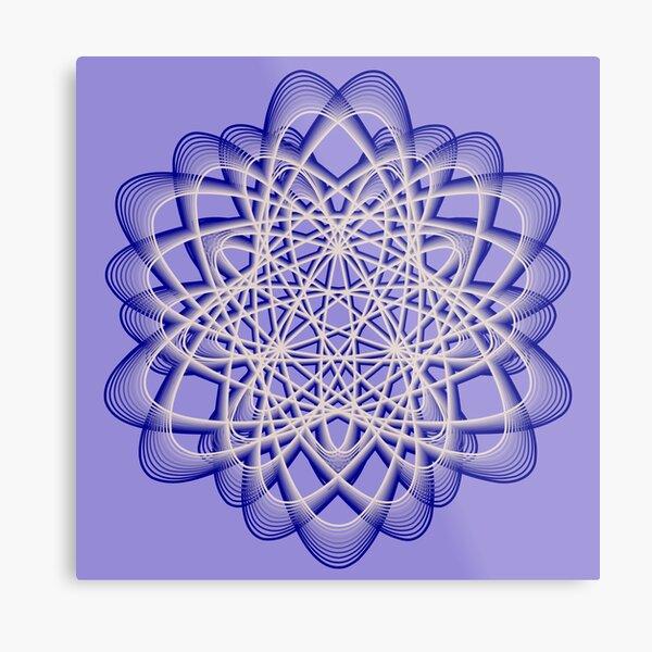Abstract Blue Violet Atomic Swaps Metal Print