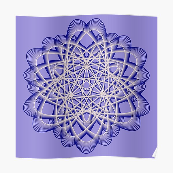 Abstract Blue Violet Atomic Swaps Poster