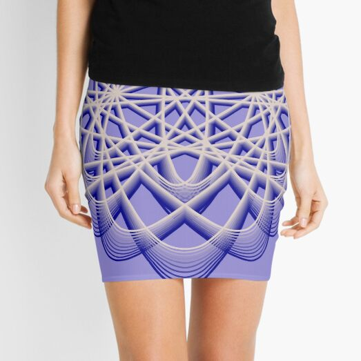 Abstract Blue Violet Atomic Swaps Mini Skirt