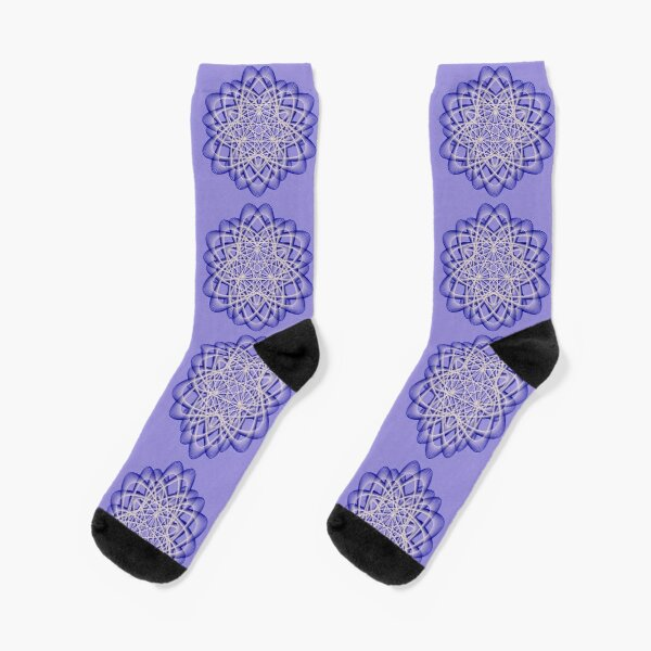 Abstract Blue Violet Atomic Swaps Socks