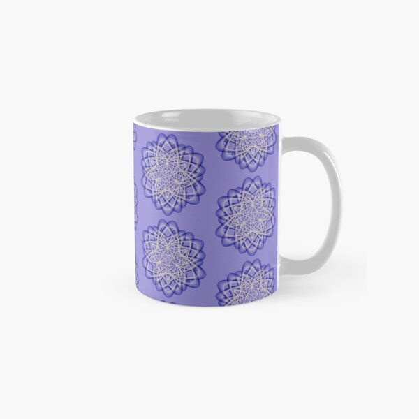 Abstract Blue Violet Atomic Swaps Classic Mug