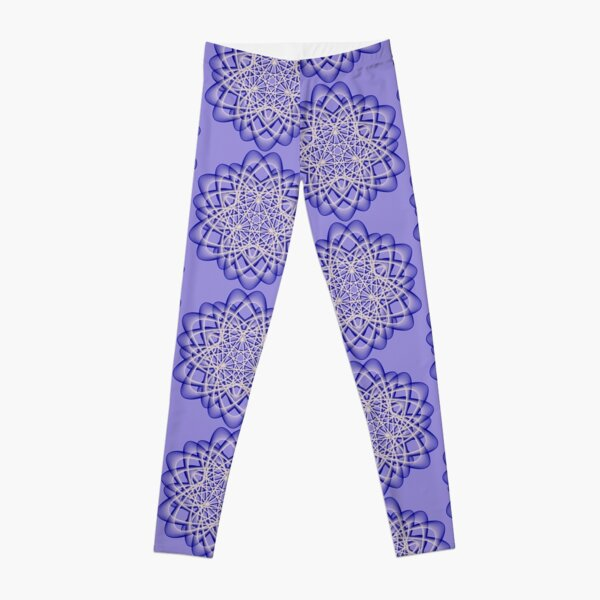 Abstract Blue Violet Atomic Swaps Leggings