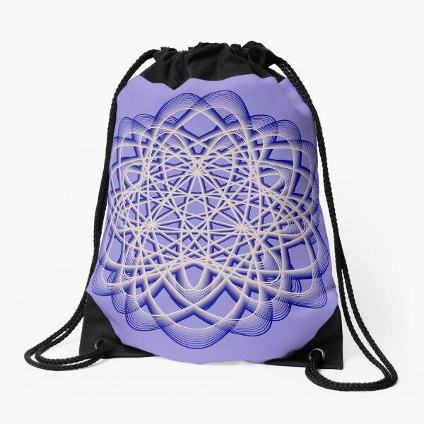 Abstract Blue Violet Atomic Swaps Drawstring Bag