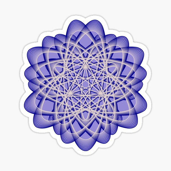 Abstract Blue Violet Atomic Swaps Sticker