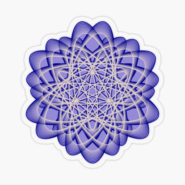 Abstract Blue Violet Atomic Swaps Transparent Sticker