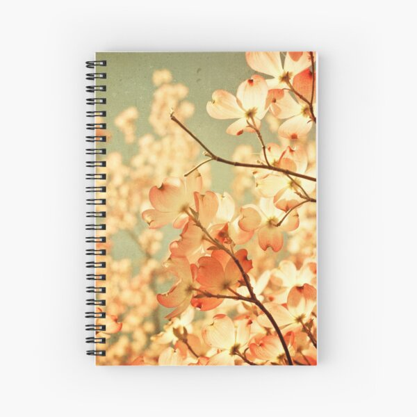 Vintage Pink Spring Flowers Spiral Notebook