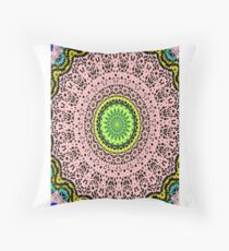 Pink Mandala Notebook and Journal Throw Pillow
