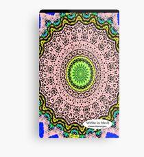 Pink Mandala Notebook and Journal Metal Print