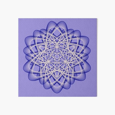 Abstract Blue Violet Atomic Swaps Art Board Print