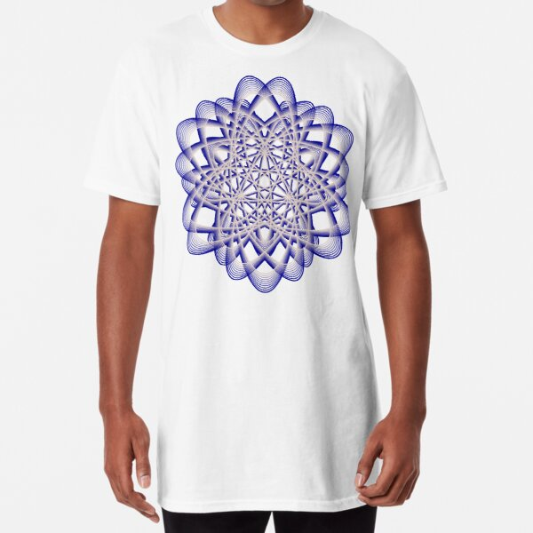 Abstract Blue Violet Atomic Swaps Long T-Shirt