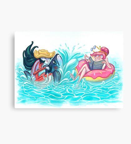 Adventure Time - Marceline & Princess Bubblegum Canvas Print