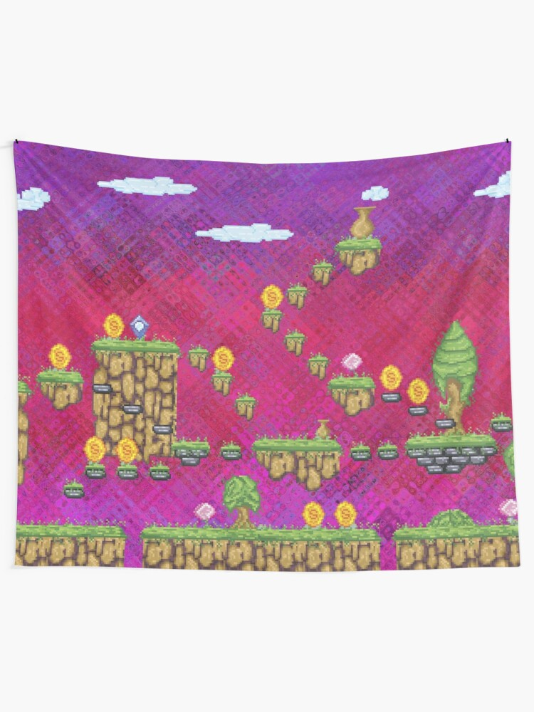 Alternate view of Psychedelic Video Game Design Tapestry