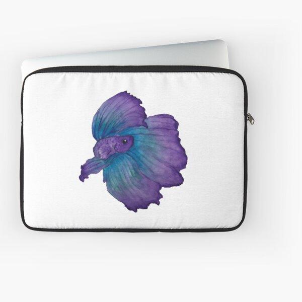 Purple and turquoise betta Laptop Sleeve