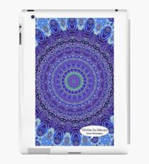 Blue and Purple Mandala Journal iPad Case/Skin