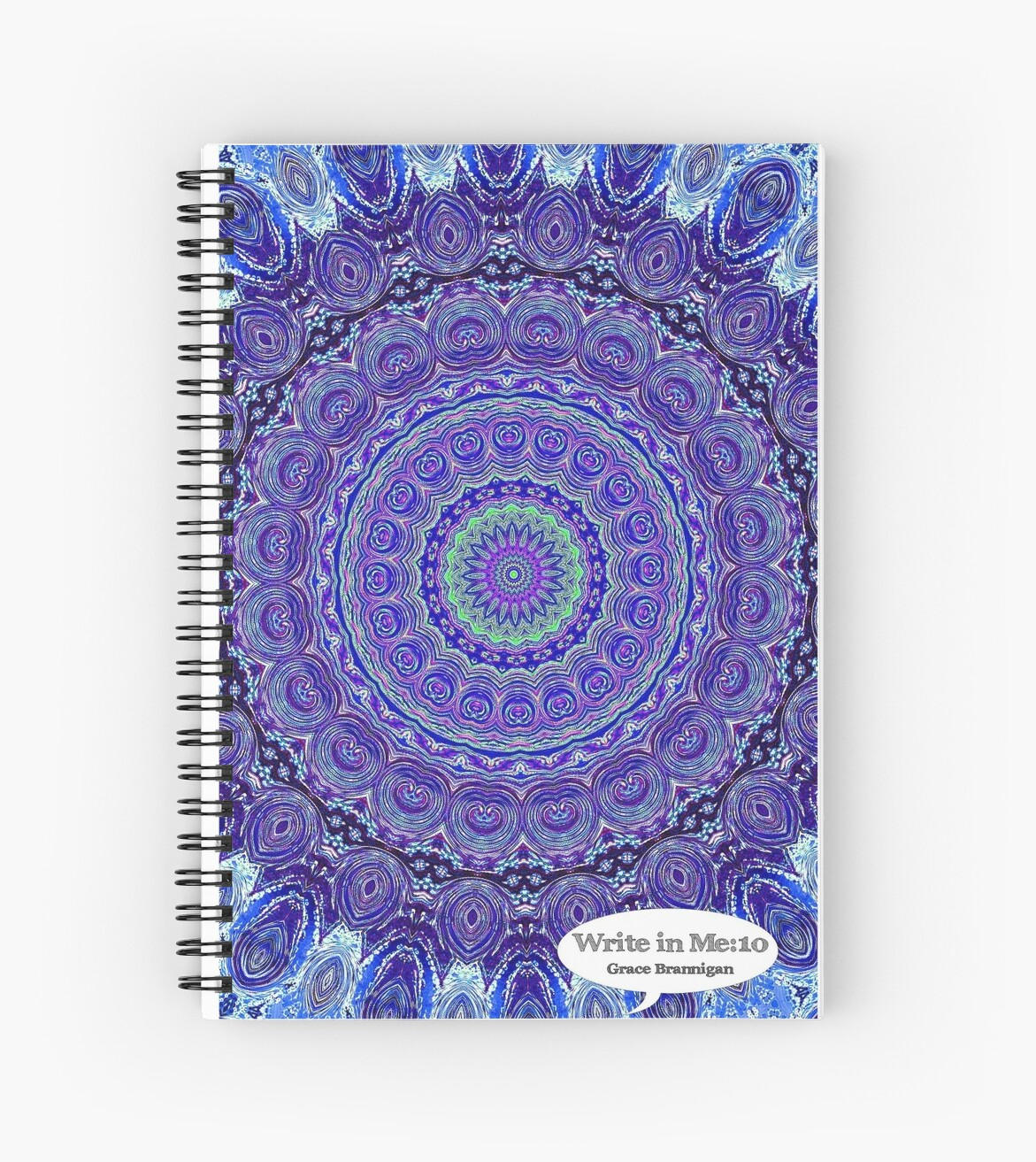 Blue and Purple Mandala Journal by ExceptionalSilk