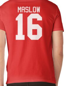 James Maslow jersey - white text Mens V-Neck T-Shirt