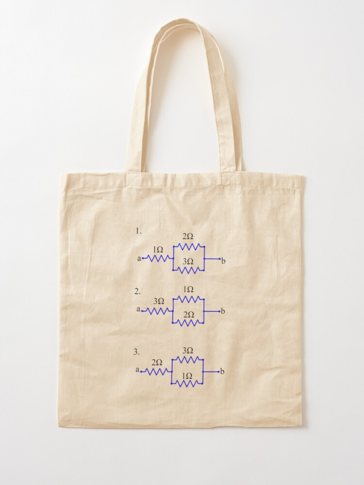 Alternate view of Evaluate without direct calculation which circuit has the highest and which circuit has the lowest equivalent resistance between a and b Tote Bag