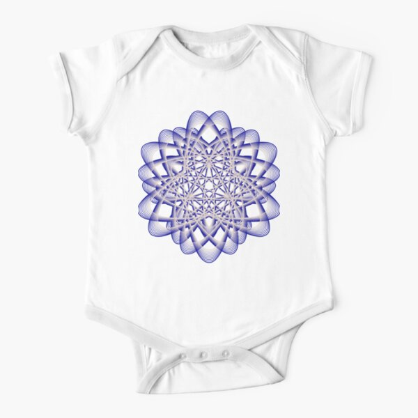 Abstract Blue Violet Atomic Swaps Short Sleeve Baby One-Piece