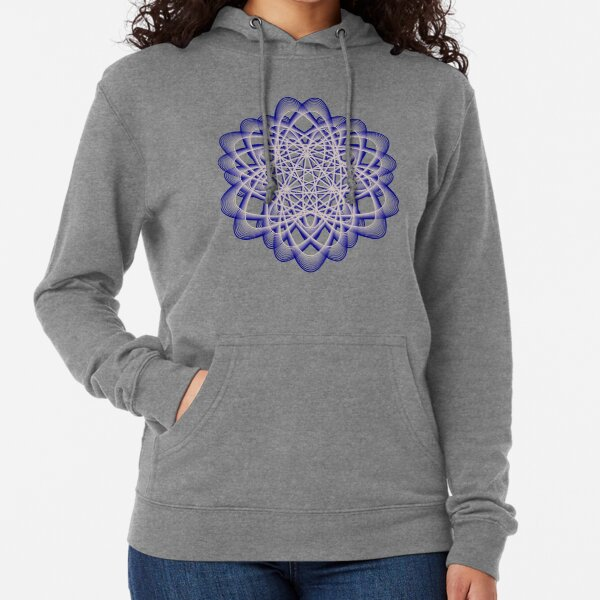 Abstract Blue Violet Atomic Swaps Lightweight Hoodie