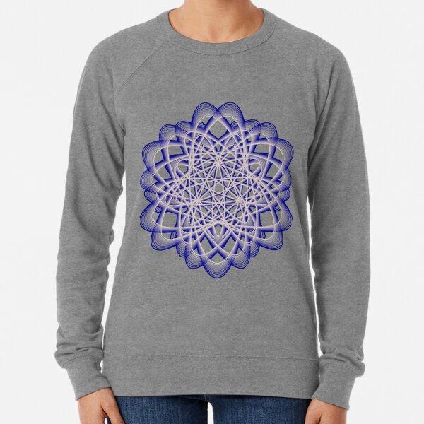 Abstract Blue Violet Atomic Swaps Lightweight Sweatshirt