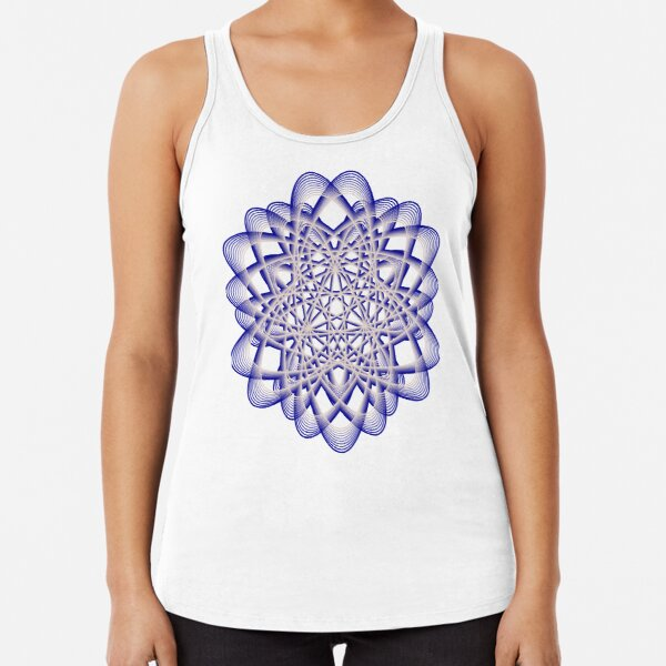 Abstract Blue Violet Atomic Swaps Racerback Tank Top