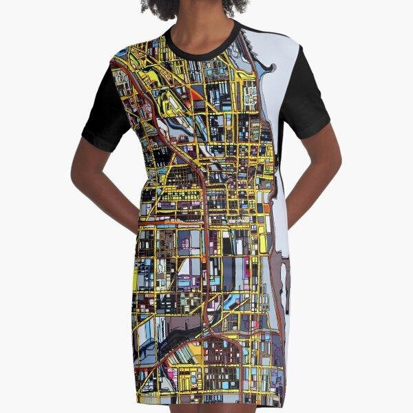 Chicago, IL Graphic T-Shirt Dress