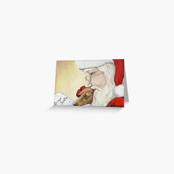 Dachshund and Santa Christmas Greeting Card