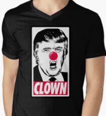 Trumpf - Clown T-Shirt mit V-Ausschnitt für Männer