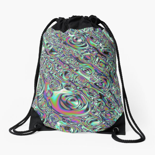 Iridescent Abstract Drawstring Bag