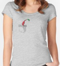 Red Pikmin in your Pocket! Women's Fitted Scoop T-Shirt