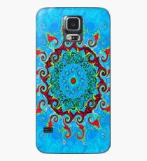 Blue, Orange and Red Mandala Journal Case/Skin for Samsung Galaxy