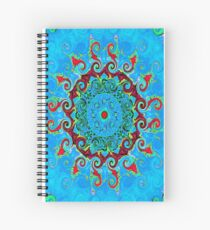 Blue, Orange and Red Mandala Journal Spiral Notebook