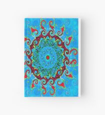 Blue, Orange and Red Mandala Journal Hardcover Journal