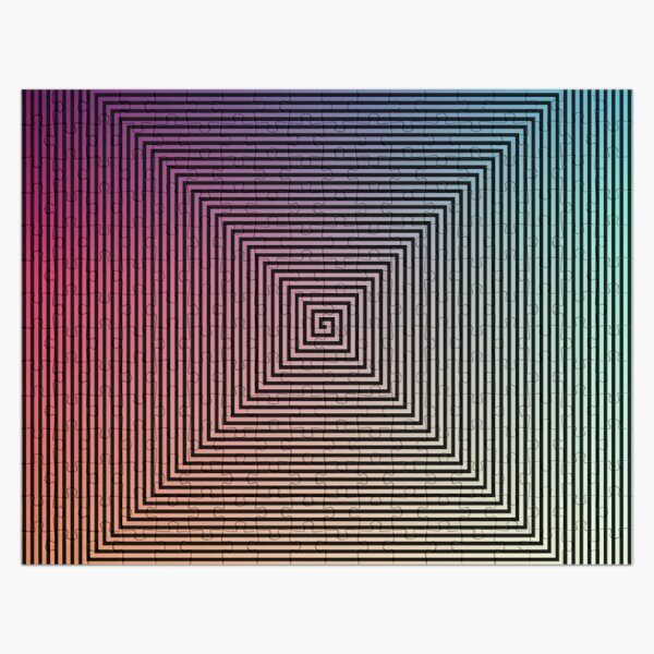 Hypnotic Psychedelic Optical Illusion Jigsaw Puzzle