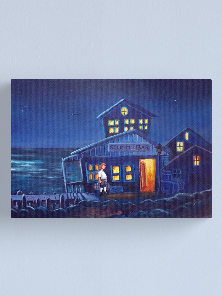 Alternate view of Monkey Island - Scumm Bar Canvas Print