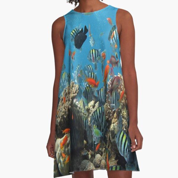 Aquarium Fish Funny T-Shirts A-Line Dress