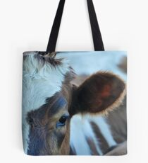 brown and white Tote Bag