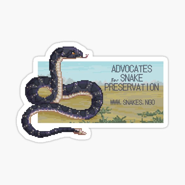 Advocates for Snake Preservation Pixel Sticker Sticker