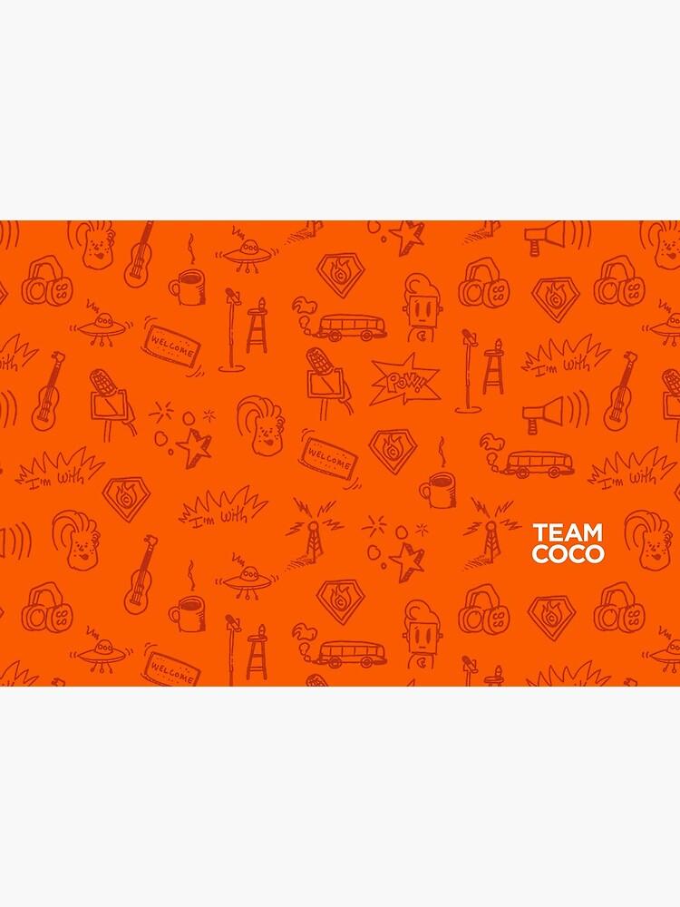 Team Coco Orange Doodles by teamcoco