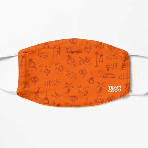 Team Coco Orange Doodles Masque sans plis
