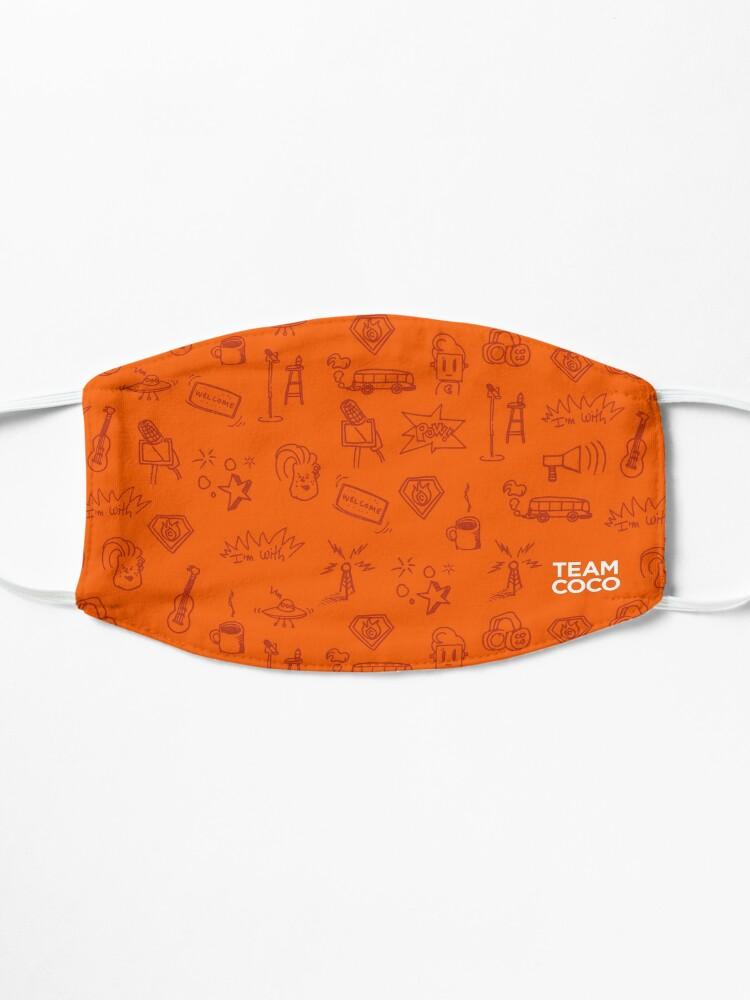 Alternate view of Team Coco Orange Doodles Mask