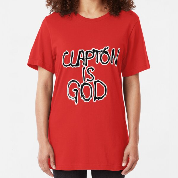 Clapton is God   London subway grafitti Slim Fit T-Shirt