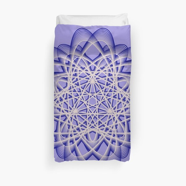 Abstract Blue Violet Atomic Swaps Duvet Cover